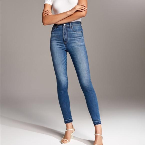 Aritzia Denim Forum Lola High Crop Jeans
